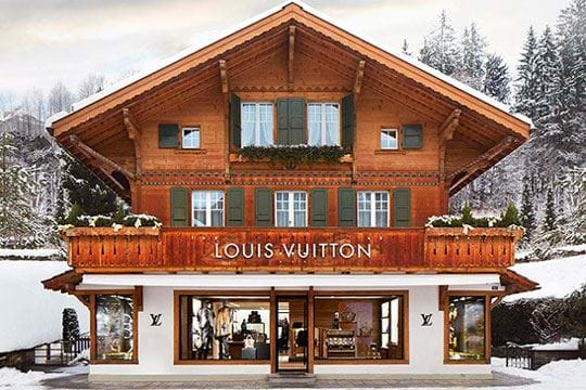 Louis Vuitton opens in Gstaad