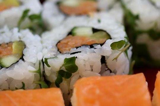 Snow and sushi - what a combination!