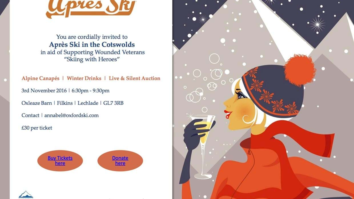 Bringing the Alps to The Cotswolds: get ready for Apres and an amazing Auction!