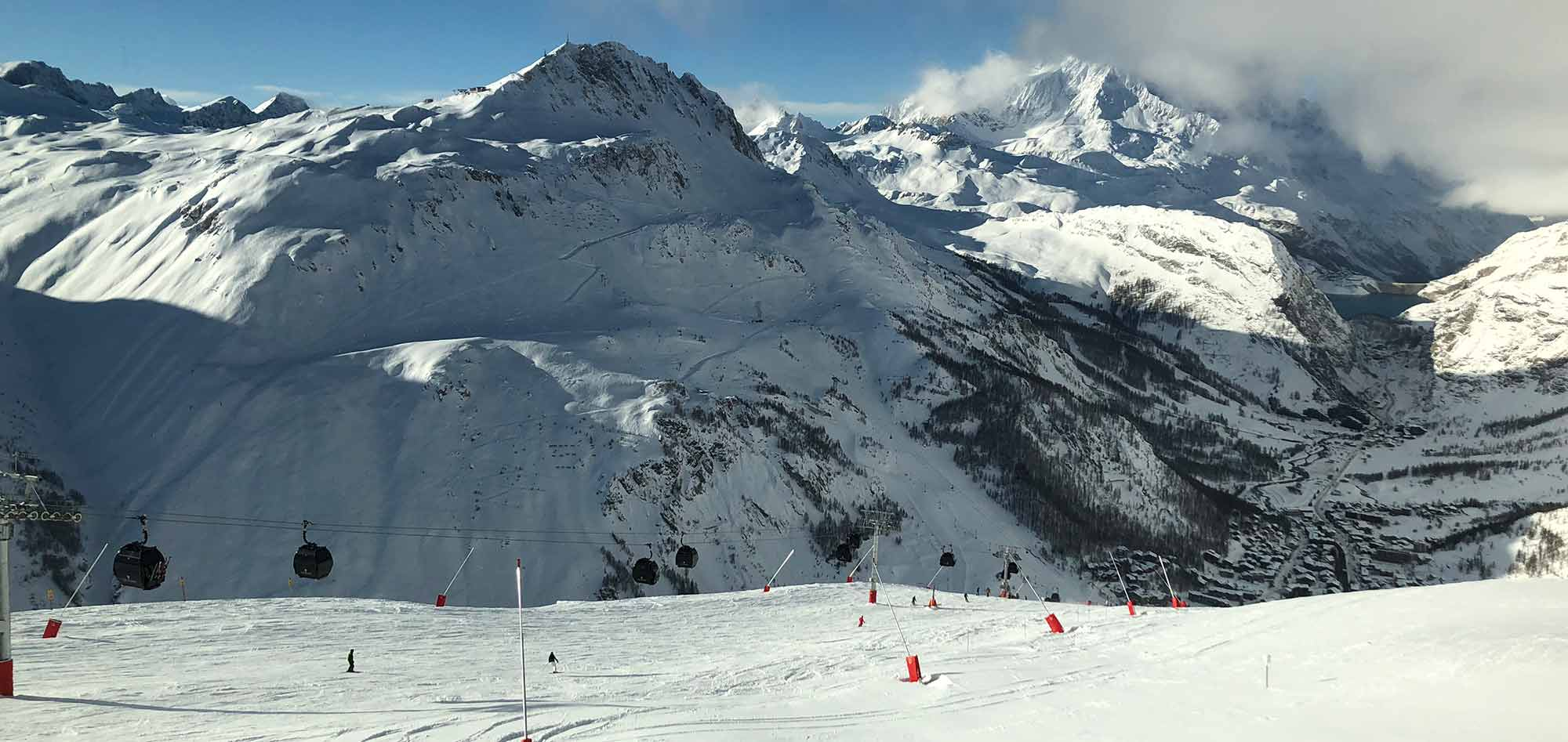 solaise ski slope in the val d'isere mountains