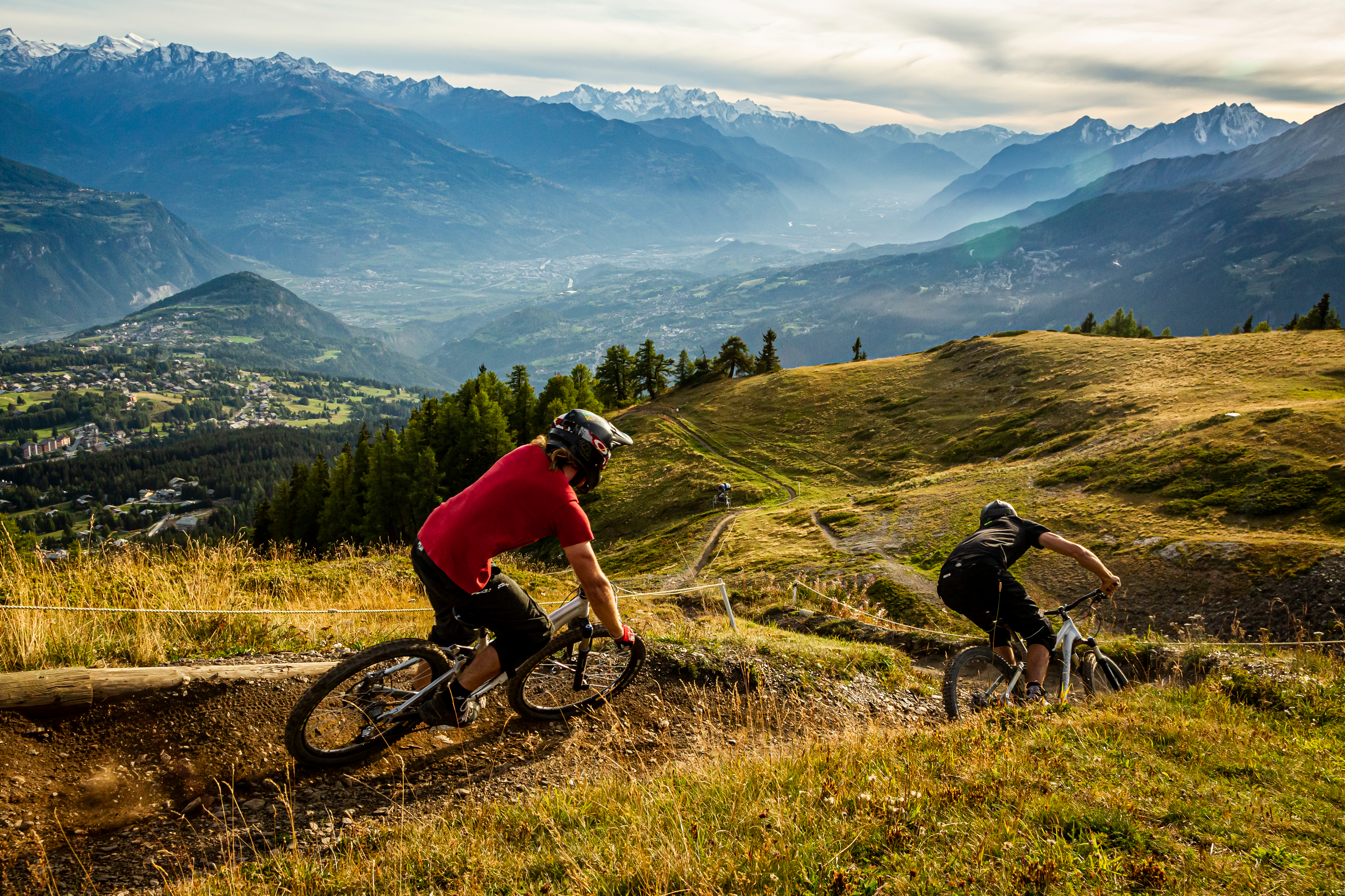 mountain biking crans montana