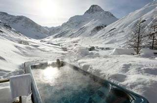 Best luxury chalet hot tub views
