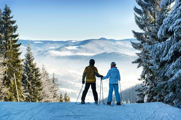 Luxury Ski Honeymoon in the Mountains